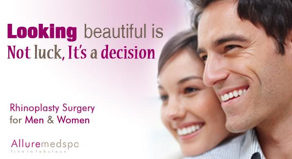 Rhinoplasty Surgery Benefits at Allure medspa, Mumbai, India