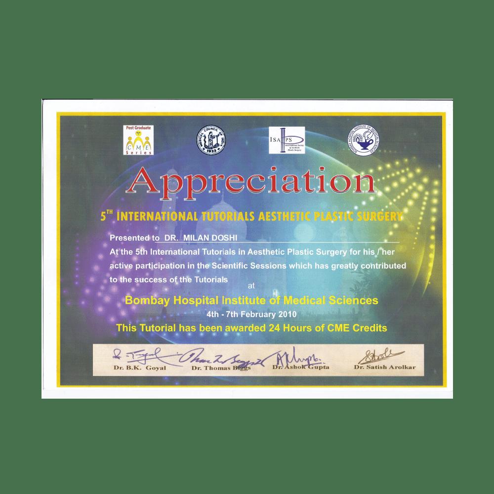 2010 FEB 4 -7 5TH INTERNATIONAL TUTORIALS ASTHETIC PLASTIC SURGERY-min