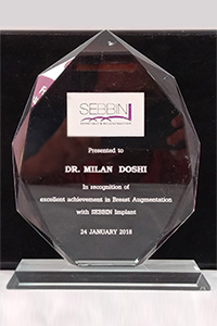 SEBBIN Recognition of excellent achievement in Breast Augmentation with SILICON Implant