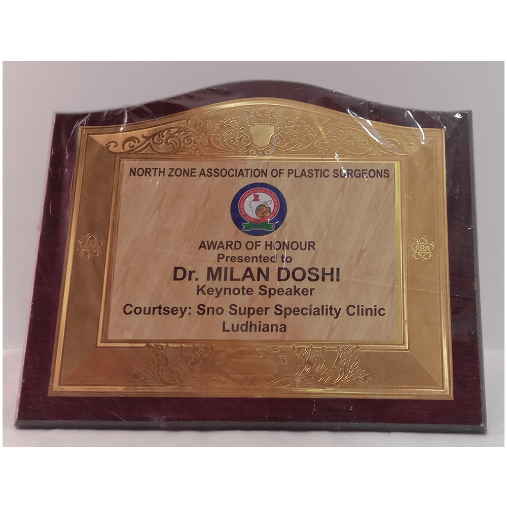Keynote Speaker in North Zone Association of Plastic Surgeons conference, Ludhiana 2013
