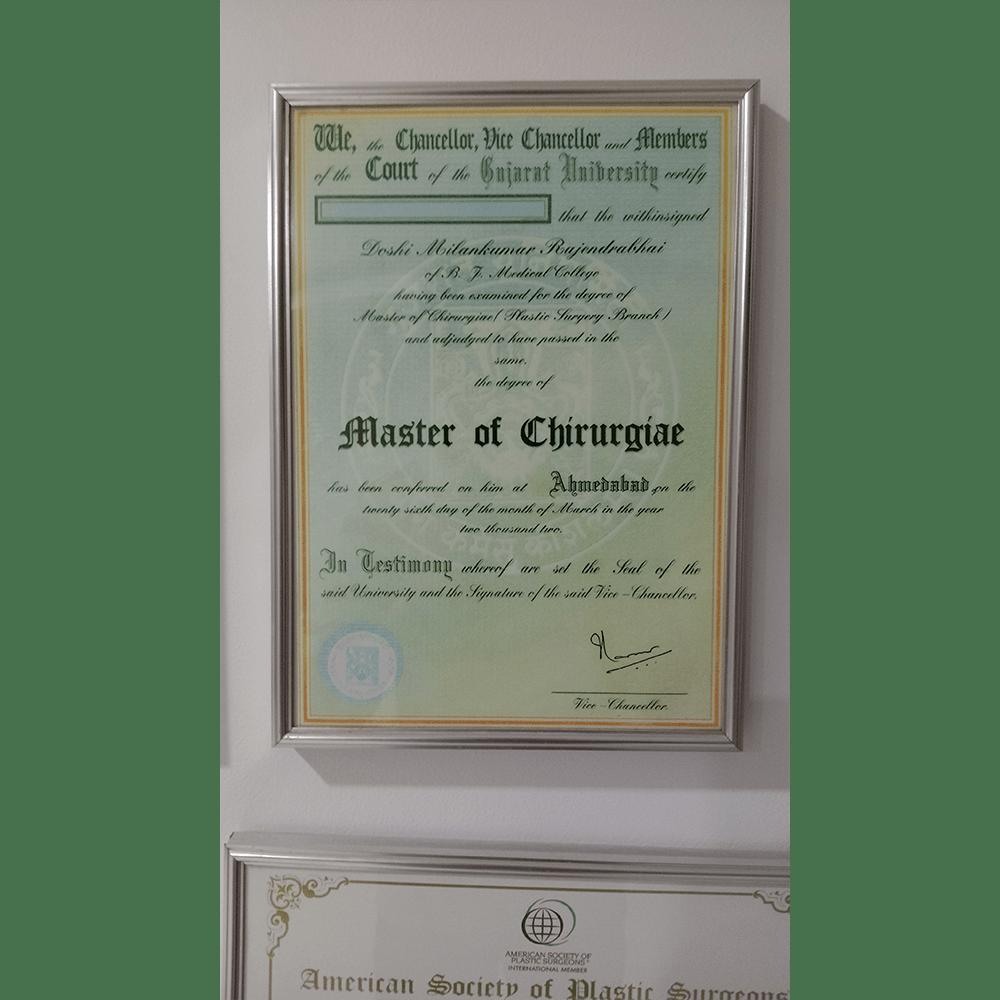 M Ch Certificate