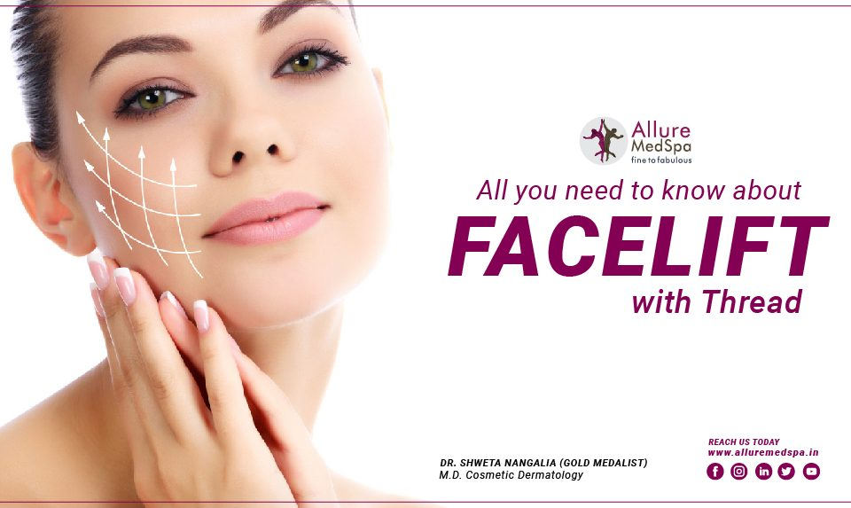 Facelift with thread